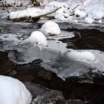 Apple River ice, ripples Dec. 25, 2012