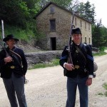 Civil War re-enactors by cooperage. May 2010