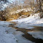 Christmas day 2012, Apple River, cliffs