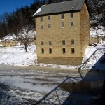 Motor Mill, bridge shadow 2013. Elkader, IA