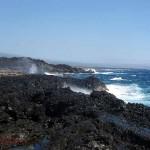 S. Hawaii coast, voggy horizon. Feb. 2009