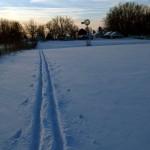 my ski tracks. Feb 2013