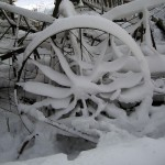 snowy wheel, equipment. Dec. 2012