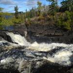 view from Kawishiwi Falls. Ely, MN