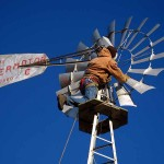 CB on windmill platform