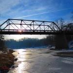 Jan. sun on Motor Bridge 2013