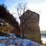 Mill, tree, bluff. Jan 2013