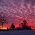 Winter sunset 2 Warren, IL